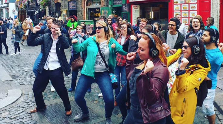 Silent disco Walking Tour in Dublin
